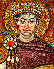 110px-Justinian emperor with halo 6th century