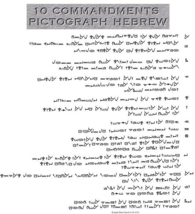 10 commandments in Paleo Hebrew