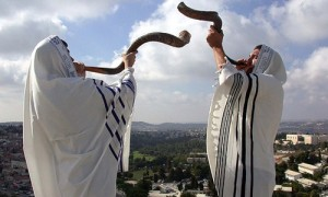 two horns blown by rabbis