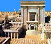 Model of 2nd Temple rebuilt Hasmonean days of YHshua finished by 26 CE - took 46 years to complete