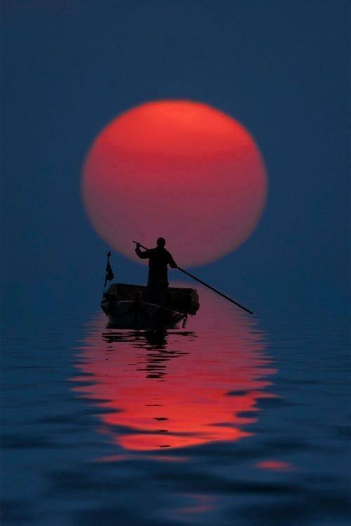 Fisherman and Moon