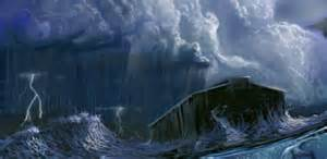 Ark in sea