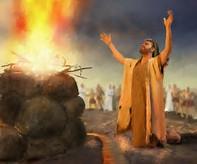 Eliyah n fire of YH devours sacrifice