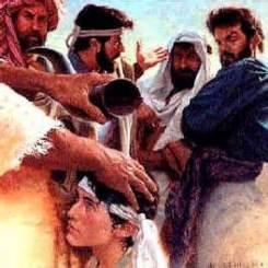 Samuel baptizes David