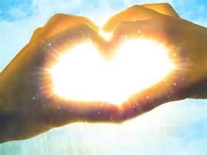 Heart hands shine