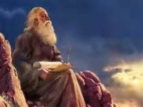 Moshe writing scrolls