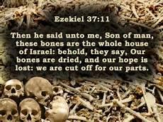 Ezek on Israel as dead bones prophecy