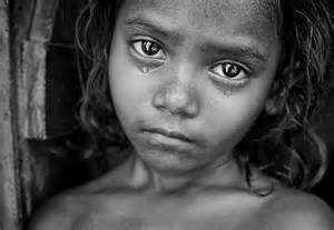 Baby girl poverty cries sad