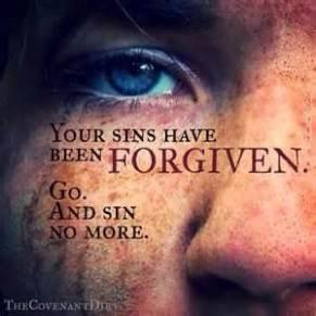 Forgiven sins no more go