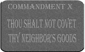 10th commandment dont covet