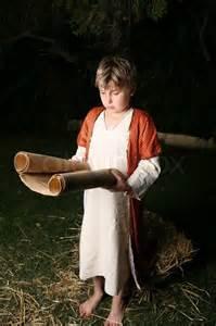 Boy meditates on scripture