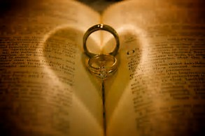 Bible n marriage rings