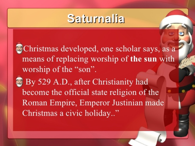 christmas commentary w roman Justinian commentary