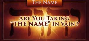 are u taking name in vain