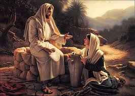 YHshua and Samaritan woman