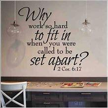 Be set apart