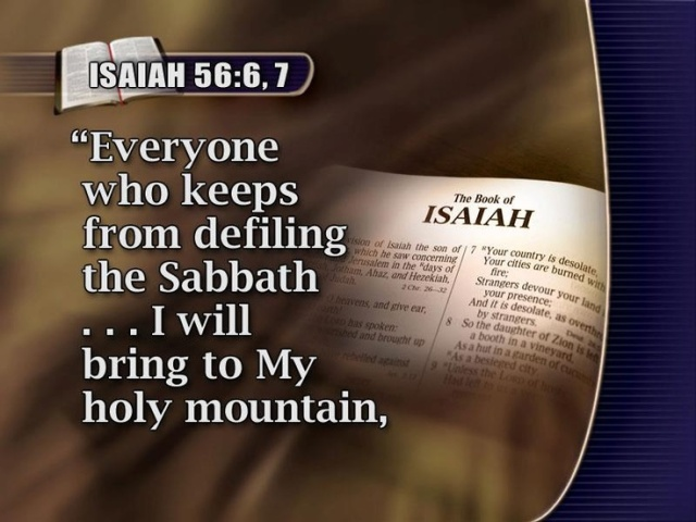 Sabbath brings to kadosh
