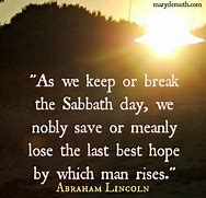 president lincoln on sabbath importance