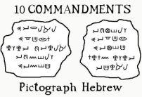 10 commandments in pictograph