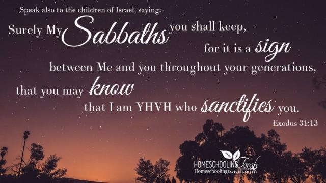 Ex 31-13 using YHVH