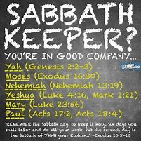 Sabbath Keepers of scriptures