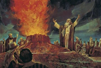 elijah fire at pit aginst the false prophets
