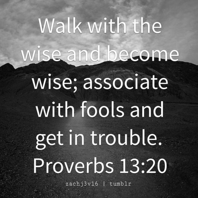 Proverbs 13-20 walk with wise friends