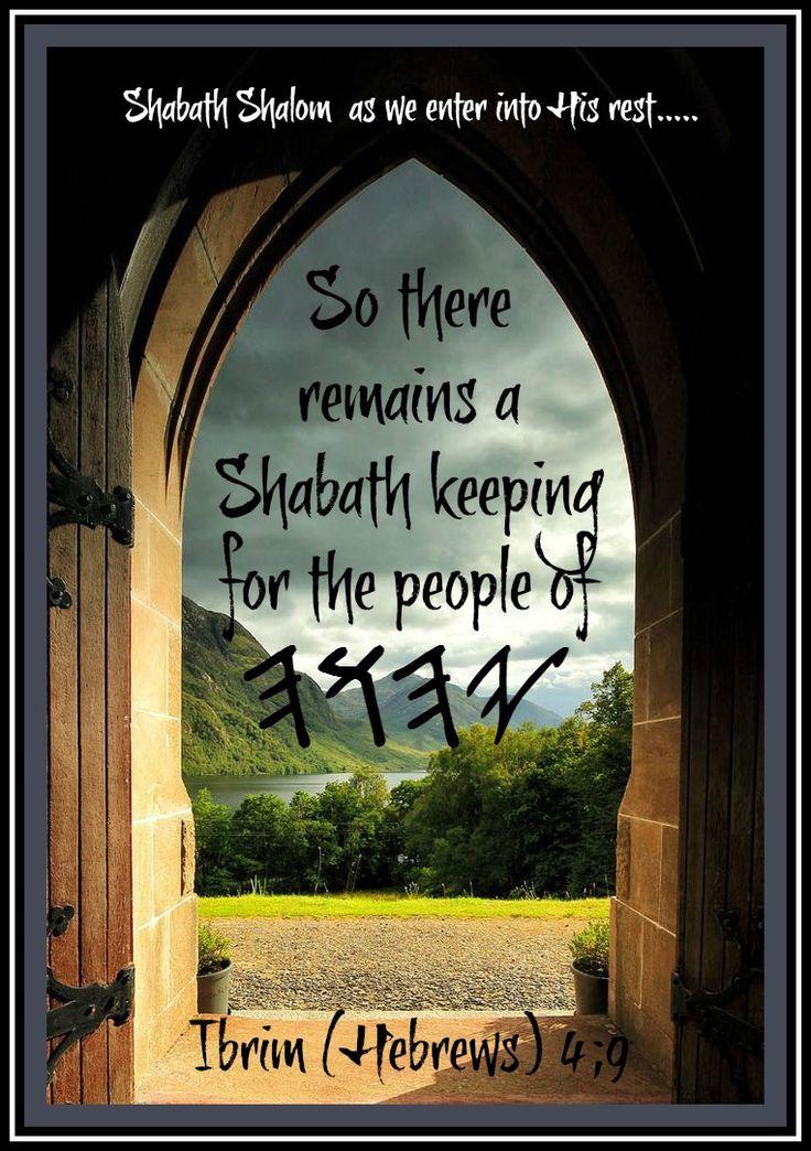 Sabbath in the Hebrews, the Britchadasha