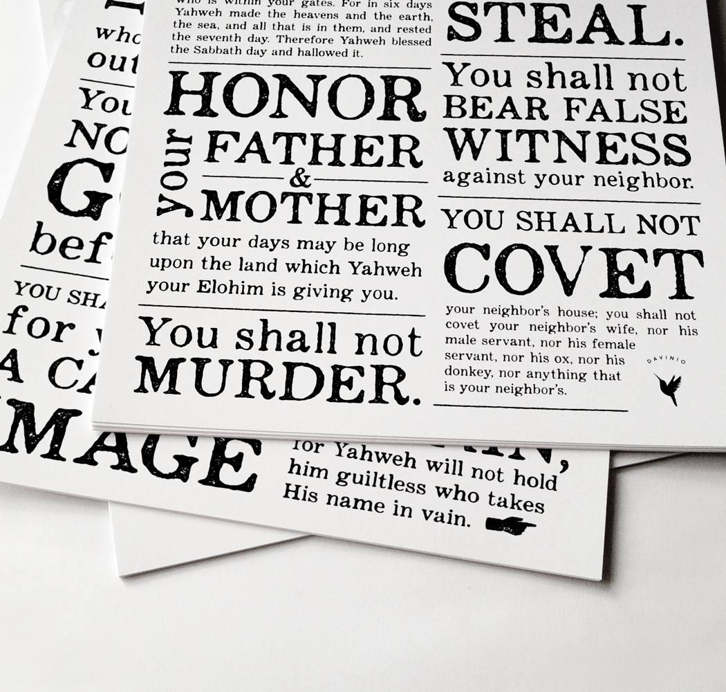 10 commandments artist rendition