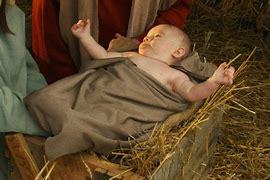 baby yhshua in manger