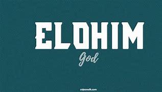 Elohim is g-d