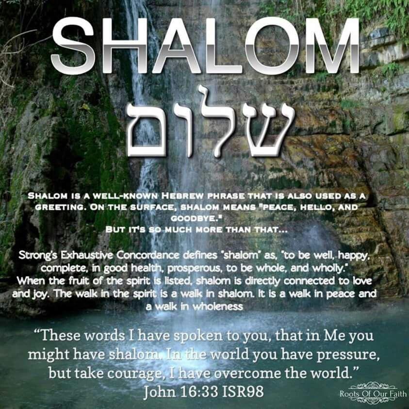 DEfininf Shalom